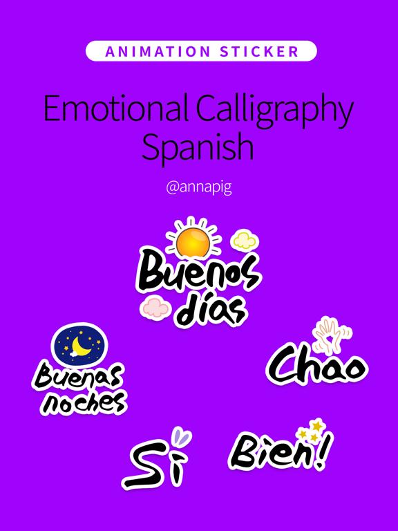Emotional Calligraphy Spanish screenshot 4