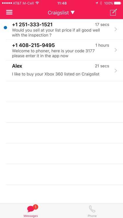 Phoner Texting Phone Number screenshot-7