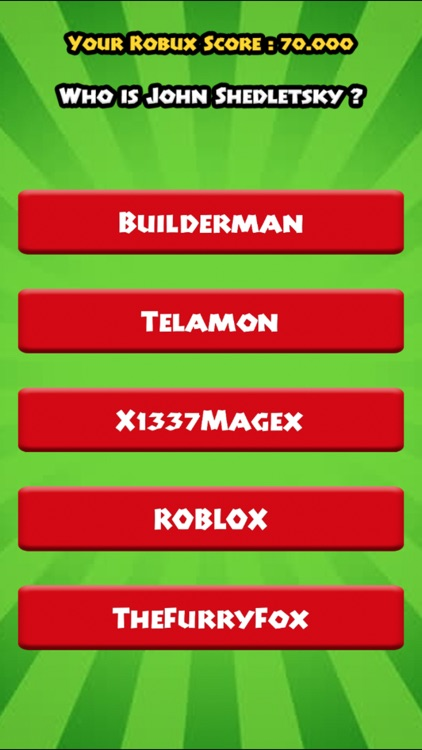 Robux For Roblox Quiz