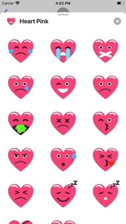 Heart Pink Love Emoji Stickers screenshot-3