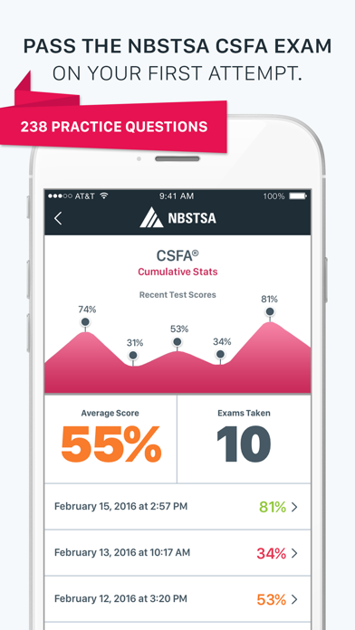 Official NBSTSA CSFA Exam Prep Screenshot