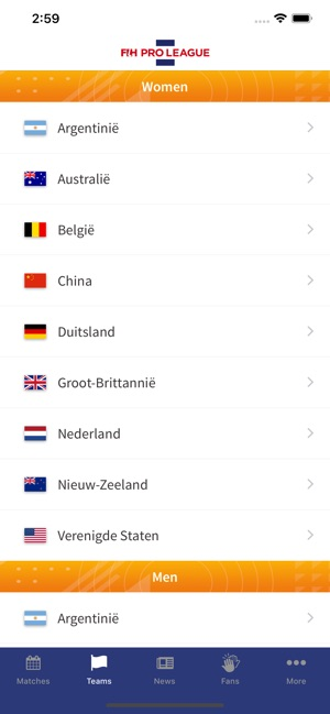 Fih Pro League Ned On The App Store