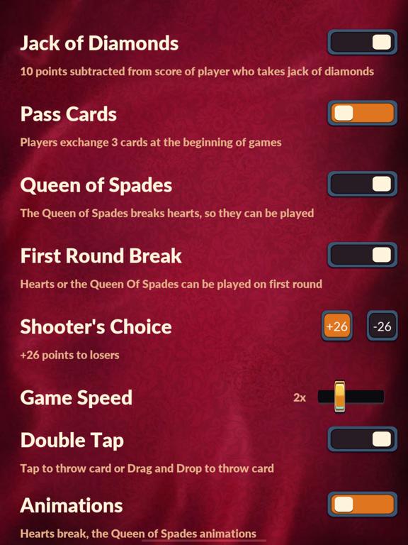 Hearts - Offline Card Games screenshot 11