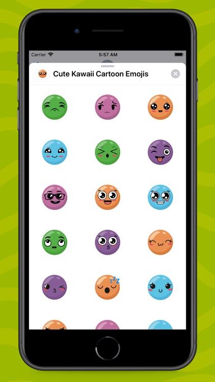 Cute Kawaii Cartoon Emojis screenshot-3