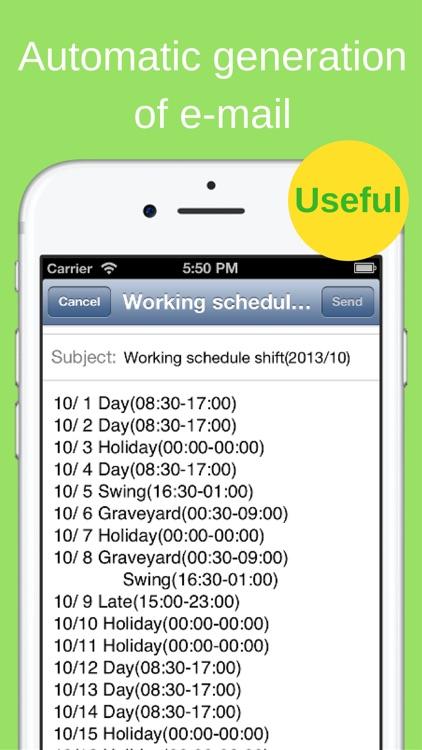 Shift Planning Calendar screenshot-4