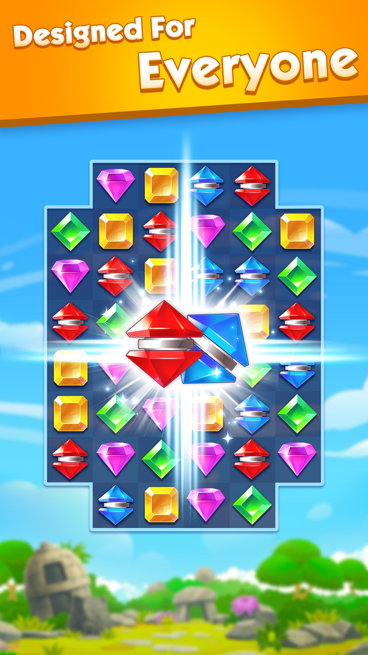 Jewel World - Match 3 Games Screenshot