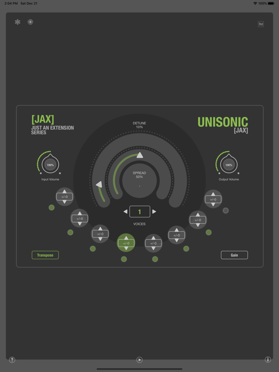 JAX Unisonic (Audio Unit) screenshot 4