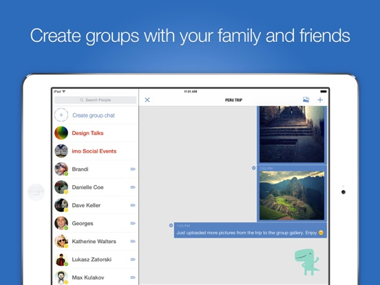iPad Image of imo video calls and chat HD
