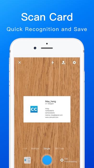 CamCard -Business Card Scanner Screenshot