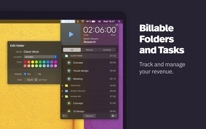 Klokki Slim - Time Tracking скриншот программы 3