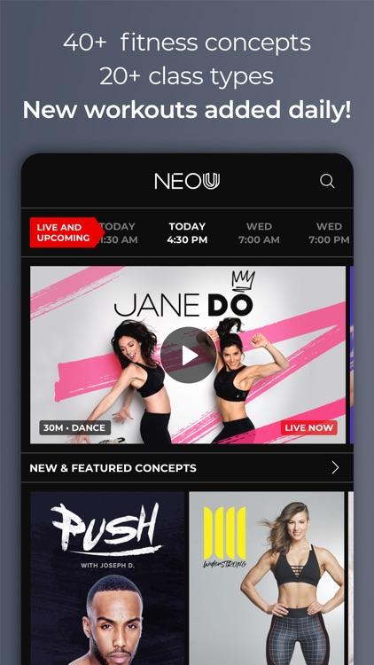 NEOU: Fitness Training Classes screenshot-0