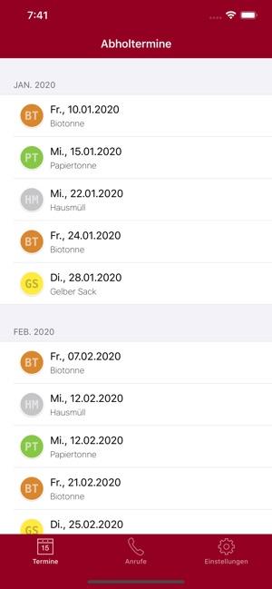 alba gelber sack abholtermine 2019