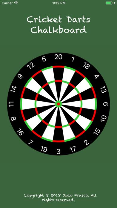 Cricket Darts Chalkboard screenshot one