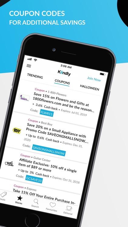 Kiindly: Cashback, Coupons App screenshot-3