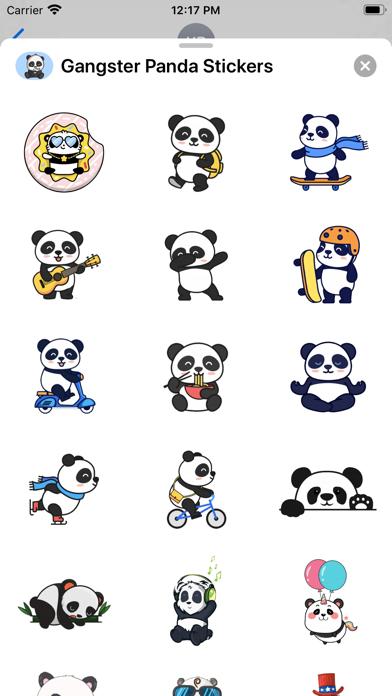 Gangster Panda Stickers screenshot 2