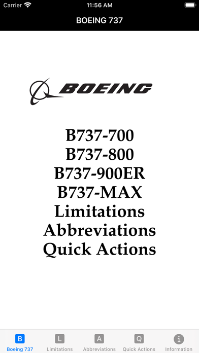 B737 Limitations Quick Actionsのおすすめ画像1