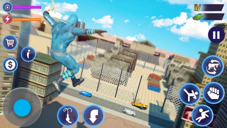 Flying Rope Hero Man Fight