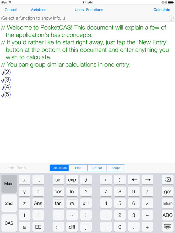 Mathematics with PocketCAS Pro Screenshot 2