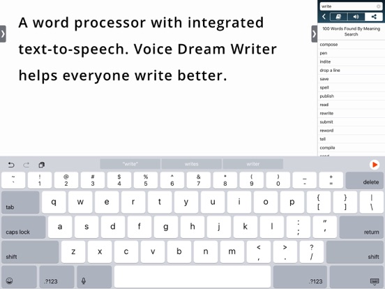 Voice Dream Writer iPad