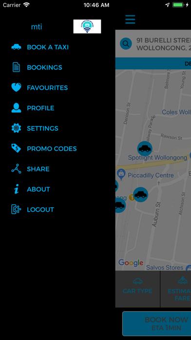 Illawarra Taxi Network screenshot two