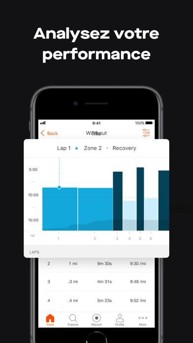 Strava – Running et Cyclisme iphone captures décran