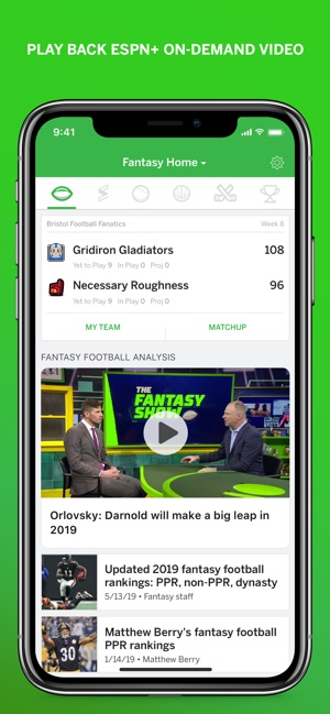 ESPN Fantasy Sports on the App Store