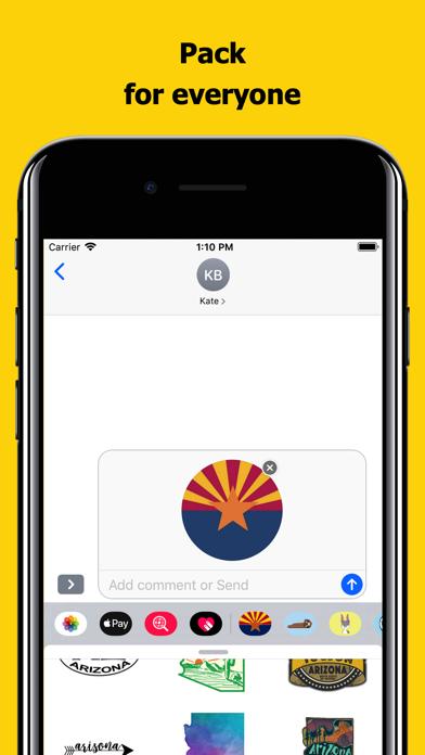 Arizona emojis - USA stickers screenshot 4