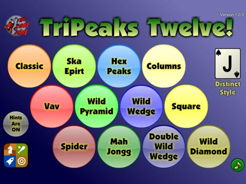TriPeaks Twelve - náhled