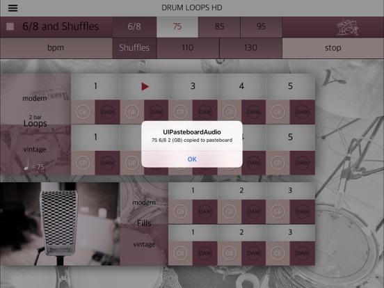 Screenshot #5 pour Drum Loops HD