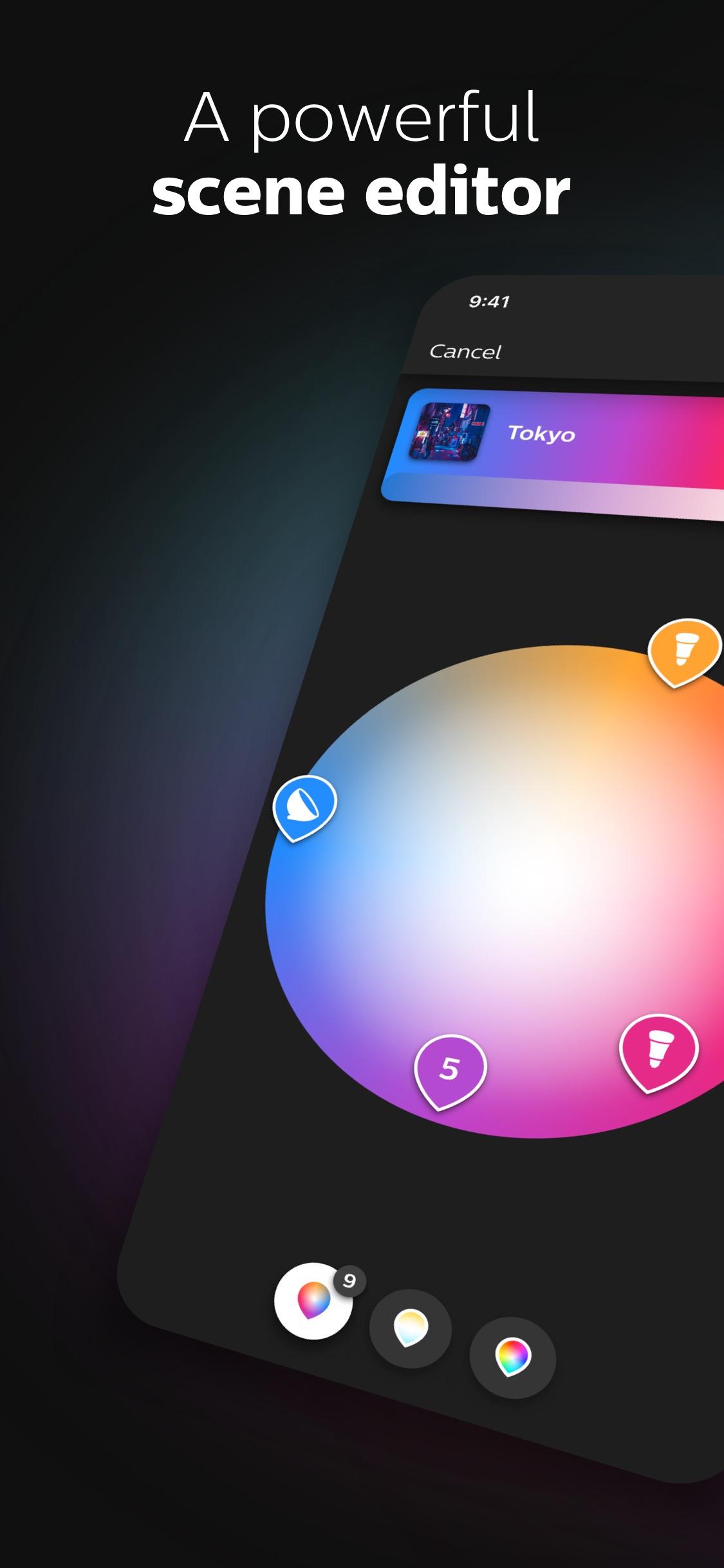 Screenshot do app Philips Hue