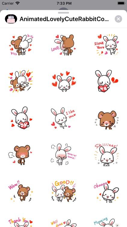 Animated Cute Rabbit Couple screenshot-3