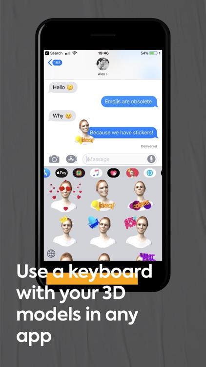 FaceHero - 3D avatar stickers screenshot-4
