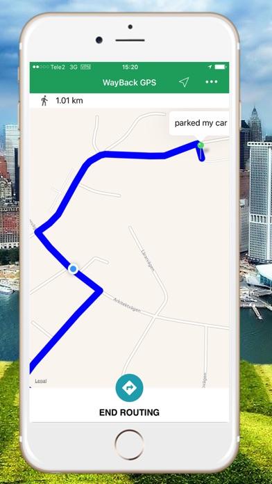 WayBack - GPS locator Screenshots