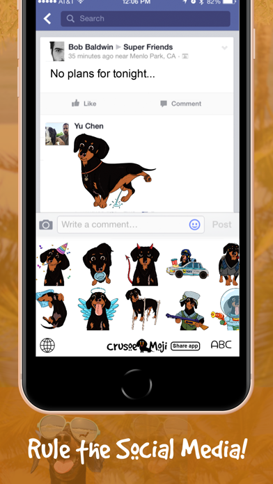 CrusoeMoji - Dachshund stickerのおすすめ画像7