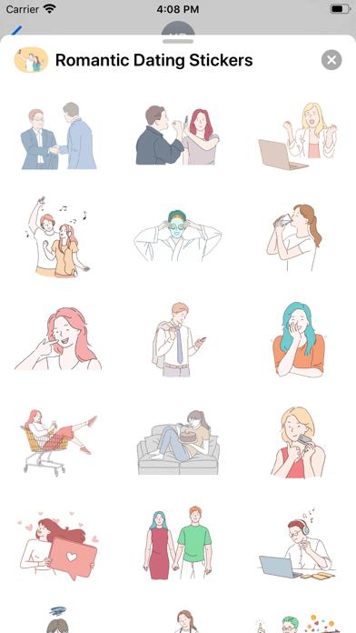 Romantic Dating Stickers screenshot 3
