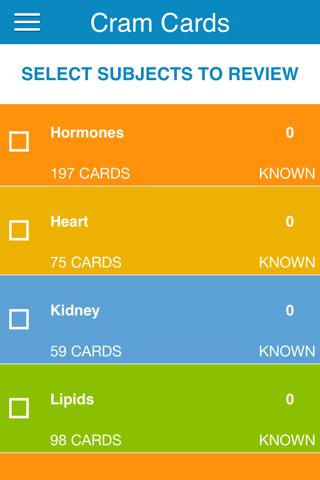 OAT Biology Cram Cards - náhled