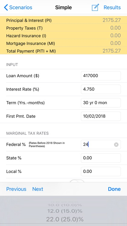 Loan Calculator & Tax Savings
