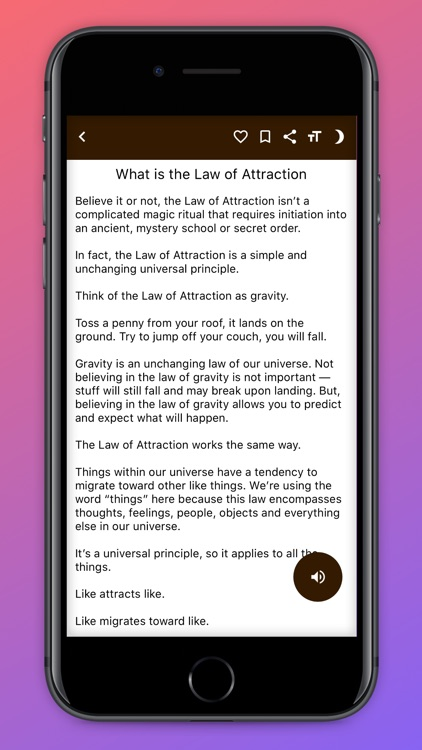 Law Of Attraction Guide. screenshot-3