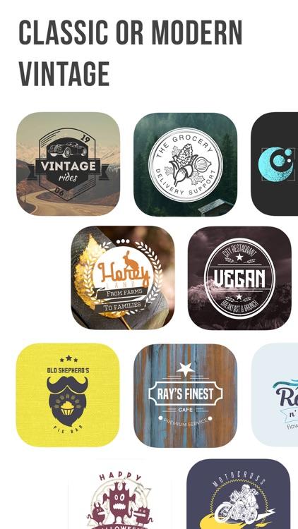 Logo Maker: Vintage Design screenshot-4