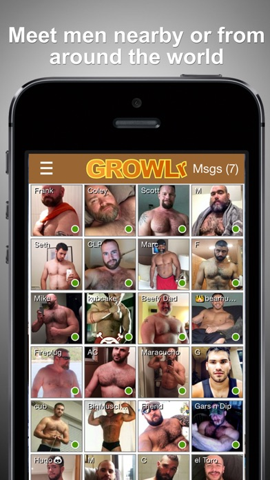 GROWLr: Gay Bears Near You Screenshot
