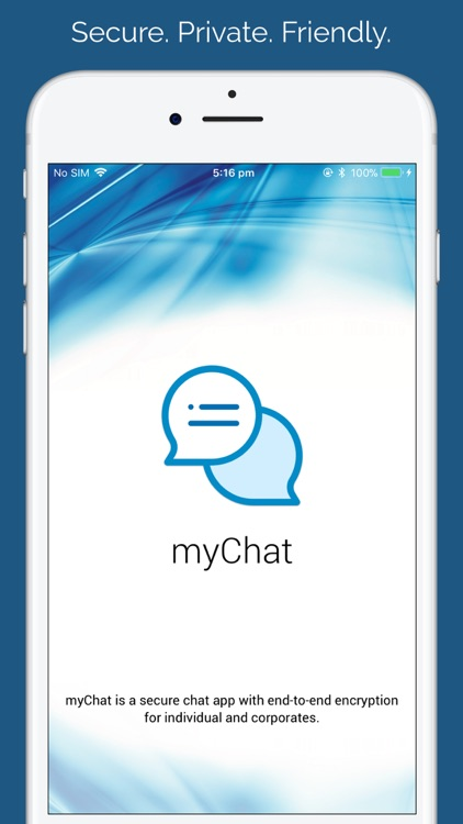 myChat - Talk with friends screenshot-0