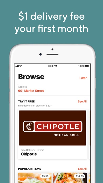 Screenshot for DoorDash - Food Delivery in Spain App Store