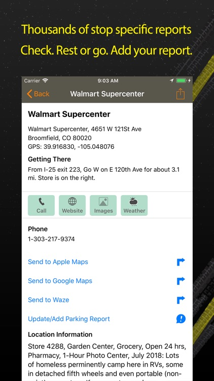 Walmart Overnight Parking screenshot-1