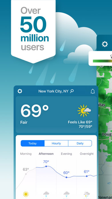 Weather review screenshots