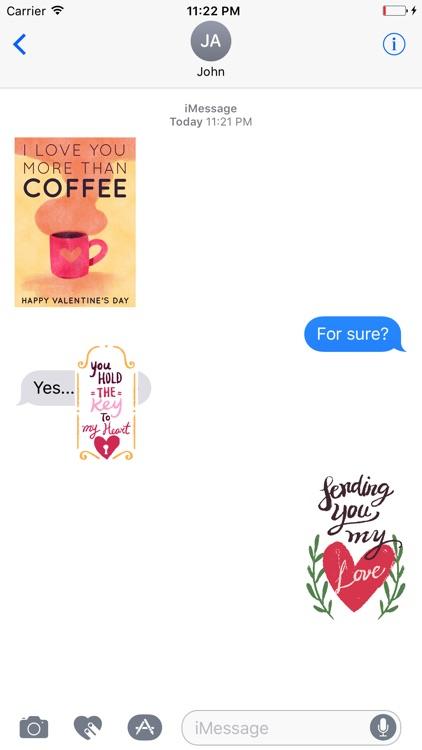 Valentines Hand Drawn Stickers screenshot-3