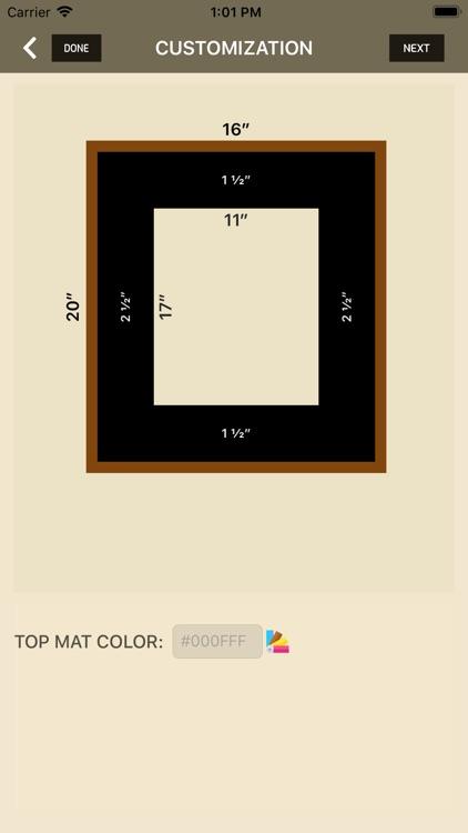 iWasFramed Matting Calculator screenshot-5