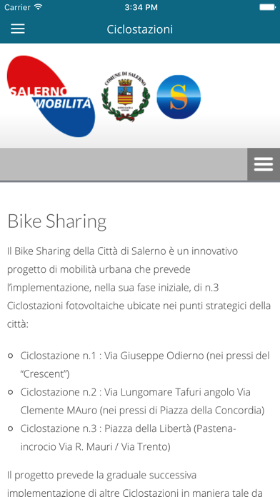 Screenshot of Salerno Mobilità4