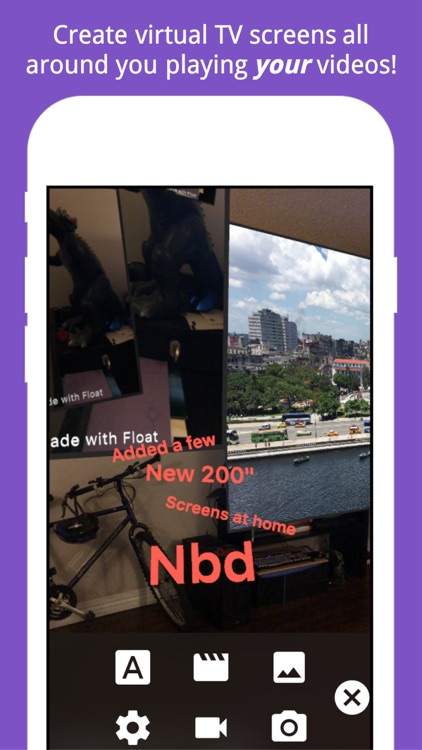 Float Camera – AR Video & Text