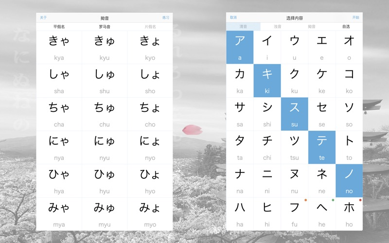 日本语の五十音图 for Mac