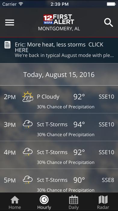 WSFA First Alert Weather iOS Application Version 4 10 400 - iOSAppsGames